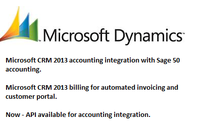 Microsoft CRM 2013 Billing and Customer Portal